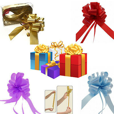 10 & 20 Large Ribbon Pull Bow Gift Wrapping/Party/Wedding Decor Wrap Pew Bows