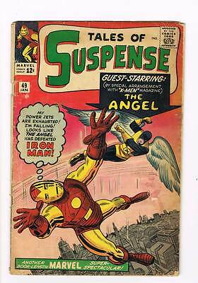 Tales of Suspense # 49 The Angel grade 3.0 scarce book !!