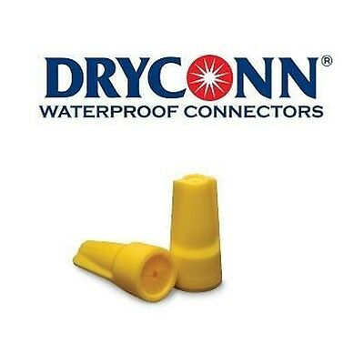 DryConn 10444 10 Pack Yellow Waterproof Connector Silicone Fill King Innovation