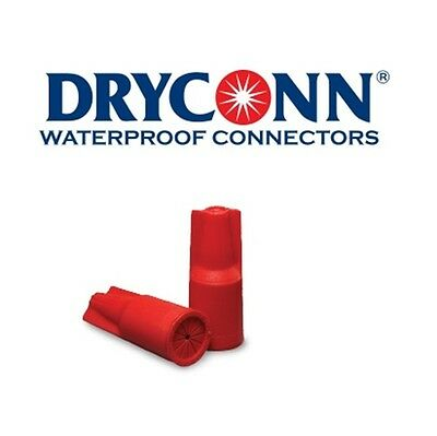 DryConn 10555 10 Pack Red Waterproof Connector Silicone Filled King Innovation