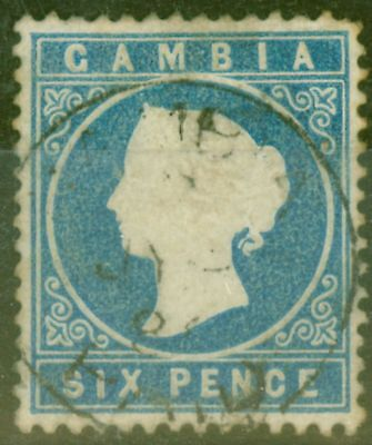 Gambia 1880 6d Blue SG18b Good Used