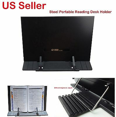 Steel Adjustable Portable Book Document Stand Reading Desk Holder Bookstand Gift