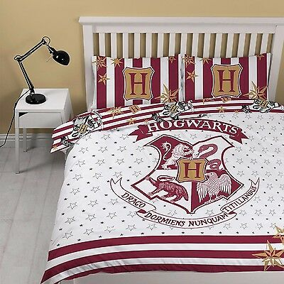 Harry Potter 'Muggles' Reversible Panel Double Bed Duvet Quilt Cover Set Gift