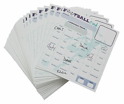 Fundraising Charity Football Scratch Cards 40 Team Packs Of 10, 20, 50, 100