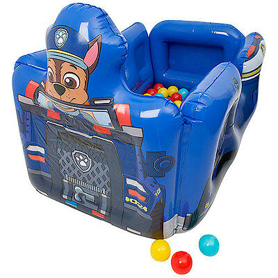 Inflatable Paw Patrol Chase Police Car Ball Pit Pool With 20 Soft Balls 7069