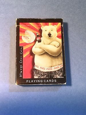 1997 Coca-Cola Bear Playing Cards