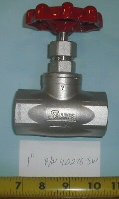 "New 1"" Sharpe Stainless Steel 200# WP Globe Valve 40276"