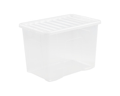 WHAM 10 x 80 LITRE PLASTIC STORAGE BOX - STRONG - EXTRA LARGE - CLEAR LID  sc 1 st  PicClick UK & WHAT MORE WHAM Box u0026amp; Lid 490ml Assorted x 4 - £4.40 | PicClick UK