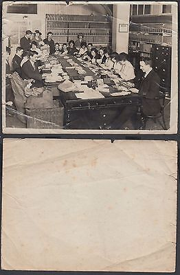 Unidentified Post Office Sorting Office Photograph;20cm by 15cm;V.Poor Condition