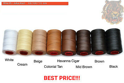 RITZA 25 0.8mm Tiger Waxed Thread for Leather Hand Sewing Julius Koch