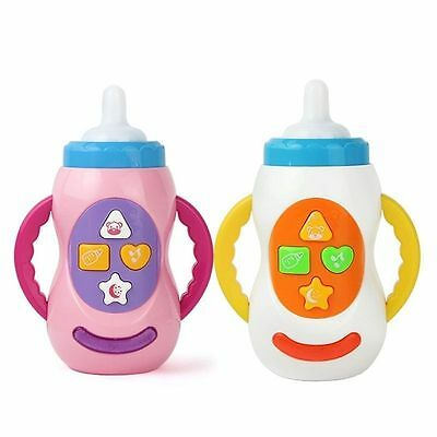 Babies 12 Month + Toy Musical Sounds Feeding Bottle Play Activity Fun Easy Grip