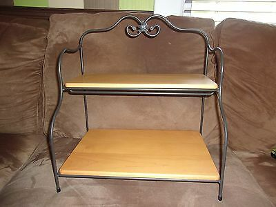 Longaberger Wrought Iron Small Baker's Rack Stand with Classic Shelves