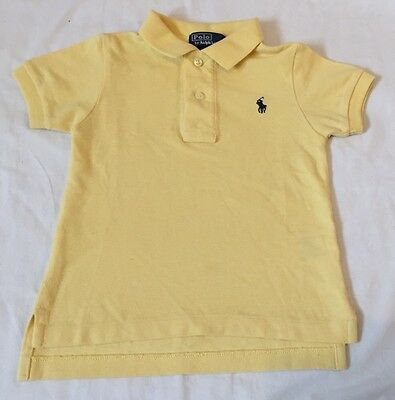 Ralph lauren Baby Boys Polo Size 12 Months Short Sleeve Yellow New Without Tags