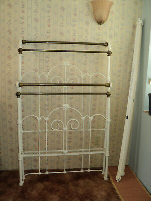 Antique Victorian Twin (short) Size Iron and Brass Bed