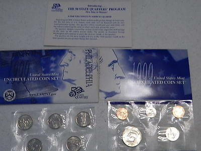 1999 P  US Mint Set United States Original Government Packaging Box Cello