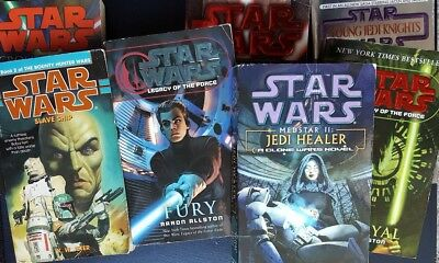 Lot of 7 Star Wars Paperback books FREE SHIPPING