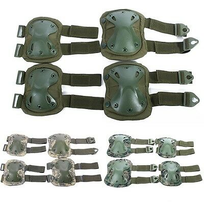Newest Elbow Knee Pad Set Shockproof Tactical Game Universal Protective Gear