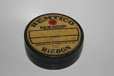 vintage remtico remington royal no 10 typewriter ribbon tin and ribbon black