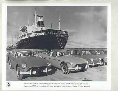 1972 MG Canada MGB Mini & Monrovia Ship ORIGINAL Factory Photograph wy4243
