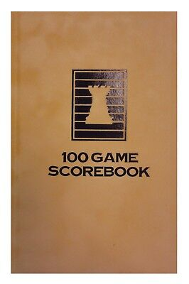 Hardcover Chess Score-Book - Mocha Velour - 100 Games - Made In Usa