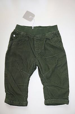 Tu - Green Soft Elastic Cotton Smart Casual Trousers - Boy 3-6 Months - New