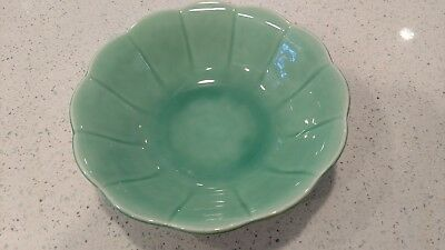 "Beautiful 9"" Vintage Petal Serving Bowl W.s. George Green ""usa 1878"" Xlnt"