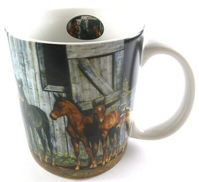 Little Partners HORSES all Around Collectible Coffee Cup Mug Lang Mugs 2001