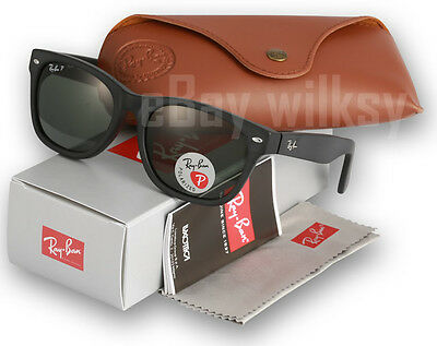 Ray-Ban New Wayfarer POLARIZED RB2132 622/58 | Rubber Black | 52mm or 55mm