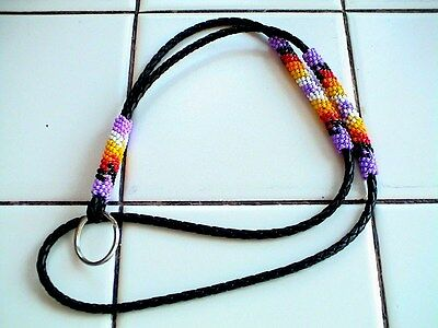 Auth.Native American Indian Beaded Lanyard/ID/Eyeglass Holder by Mary Johnson