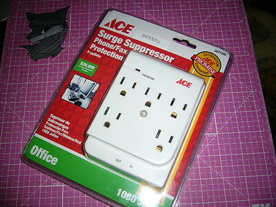 ACE Surge Suppressor Protector, 5-Outlet, White, 3277340, 1800 WATT, NEW-sealed