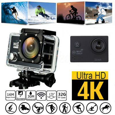 "4K SJ7000K Waterproof WIFI Sport Action Camera Ultra HD 1080P 2.0"" DV Camcorder"