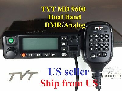 TYT MD9600 Dual Band DMR/Analog 144 & 430 MHz Mobile Radio USB cable US seller!