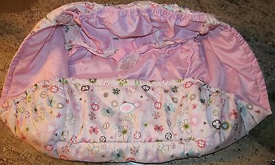BRIGHT STARTS Pretty in Pink Cozy Shopping Cart Cover EXCELLENT Used Condition