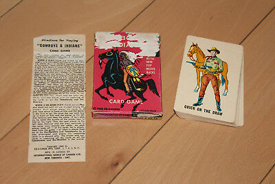 Vintage COWBOYS AND INDIANS Ed-U-Cards CARD GAME ** 1960 CANADA Edition / L@@K