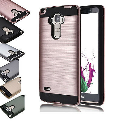 Dual Layer Shockproof Brushed Hybrid Armor Rubber TPU Protection Case For LG G5