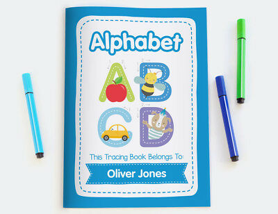 ABC Alphabet Personalised Kids Tracing Book