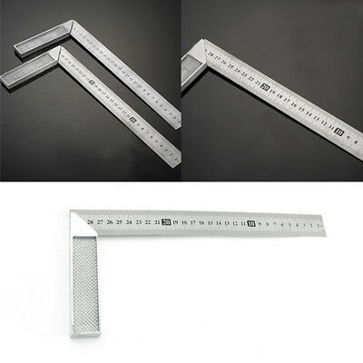 30cm Stainless Steel 90 Degree Angle Metric Try Mitre Square Ruler Scale