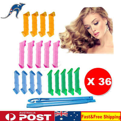 36pcs DIY Magic Hair Curler Leverag Curlers Formers Spiral Styling Rollers