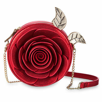 DISNEY / DANIELLE NICOLE Crossbody Bag ENCHANTED ROSE - BEAUTY and the BEAST NWT