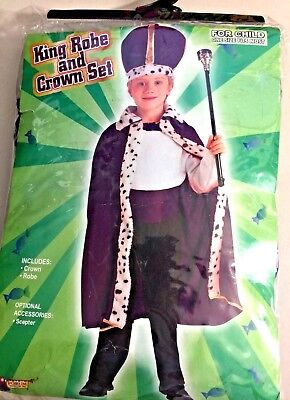 bba0d67bee FORUM NOVELTIES KING Robe and Crown Set Purple Costume