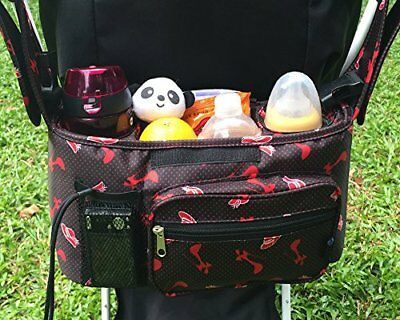 Stroller Organizer Bag Chilly Pram Cup Holders with Removable Shoulder Strap Fit