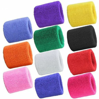 A pair Wristbands Wrist band Sweatbands Sweat Band for Sport Tennis Badminton FT
