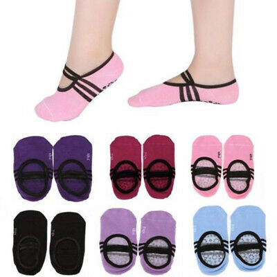 AU Women's Non-Slip Ballet Dance Sock Girls Grip Socks for Barre Yoga Pilates