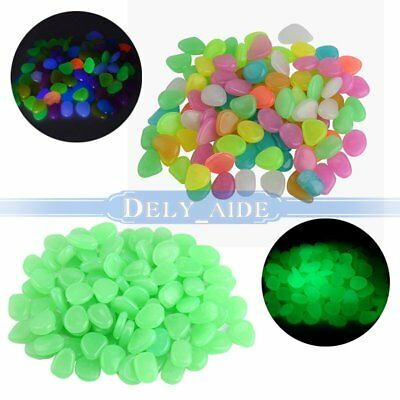 Night Pebble Luminous Stone Pierres Glow Dark Home Garden Aquarium Decoration