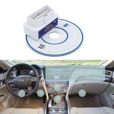 Super WiFi OBD2 Car Diagnostics Scanner Scan Tool for iOS Android Windows White