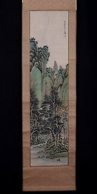 Very Long Old Chinese Scroll Hand Painting Landscape Marked ZhuangLin PM009