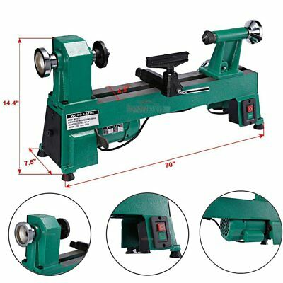 """Industrial 10"""" x 18"""" In Heavy Duty 5 Speed Bench Top Wood Lathe UP to 3200 RPM's"""
