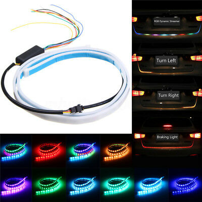 "48"" LED RGB Strip Tail Light Bar Car Truck Running Brake Stop Turn Signal Lamp"