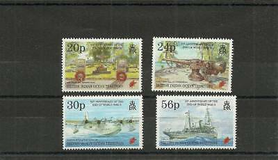 Biot Sg167-170 50Th Anniversary Of The End Of Ww2  Mnh