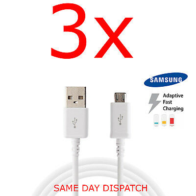 Samsung Galaxy S6, Edge S7 Note 5/4 A3 A5 Fast Charger USB Data Cable Lead